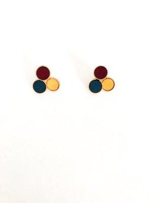 Dreieck Kreis Ohrringe mehrfarbig