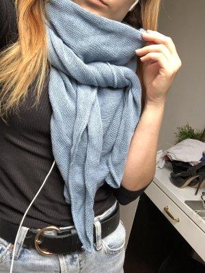 Gehaakte sjaal korenblauw-azuur Wol