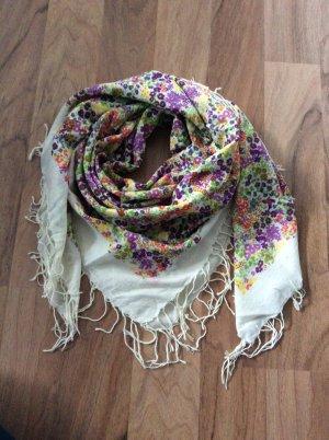 Dreieckstuch / grosses Tuch / Blumenprint / Hippie