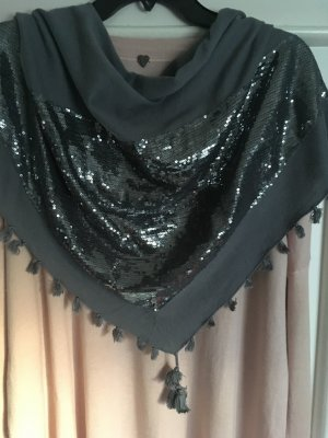 Gebreide sjaal grijs Viscose