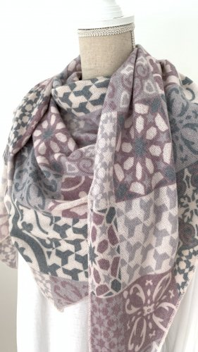 Zwillingherz Écharpe en laine multicolore laine