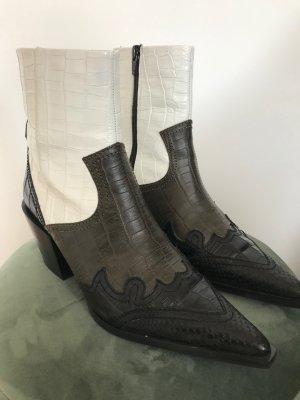 Topshop Boots western multicolore cuir