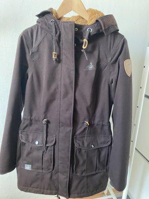 Dreimaster Winter Coat dark brown-black brown mixture fibre