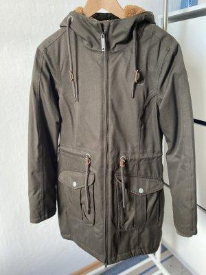 Dreimaster Winter Coat khaki-green grey mixture fibre