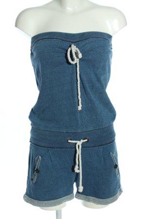 Dreimaster Jumpsuit blau meliert Casual-Look