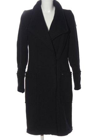 Dreimaster Manteau oversized noir tissu mixte