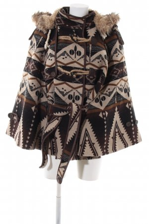 Dreimaster Poncho abstraktes Muster Casual-Look