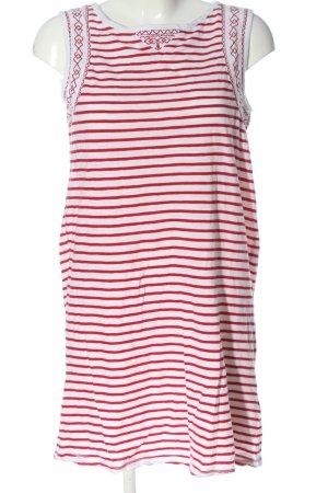 Dreimaster Shirtkleid weiß-rot Streifenmuster Casual-Look