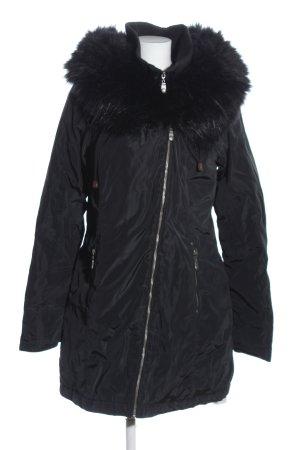 Dreimaster Quilted Coat black casual look