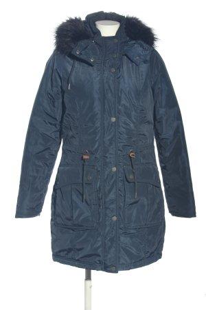 Dreimaster Quilted Coat blue-light orange casual look