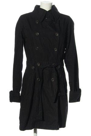 Dreimaster Trenchcoat schwarz Casual-Look