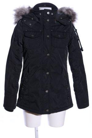 Dreimaster Winterjacke schwarz Casual-Look