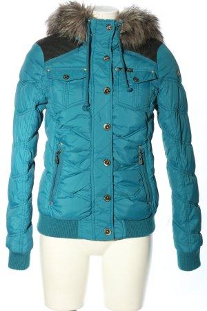 Dreimaster Kurtka zimowa niebieski Pikowany wzór W stylu casual