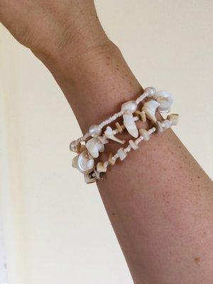 dreireihiges Muschel-Perlen-Armband