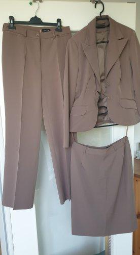 Laura Scott Tailleur-pantalon gris lilas-gris violet
