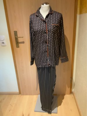 Jockey Pijama negro-beige claro Viscosa