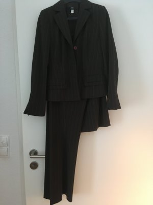 Apart Impressions Pinstripe Suit brown-black brown polyester