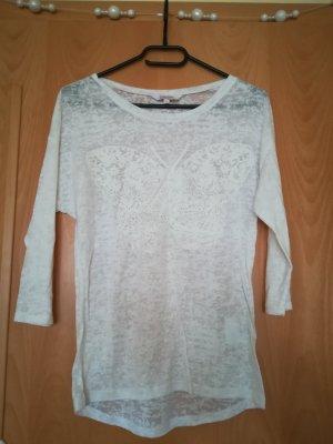 dreiviertel Ärmeliges weißes shirt