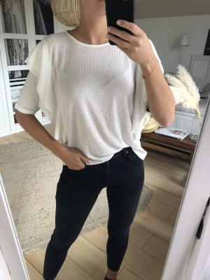 Mango Geribd shirt wit