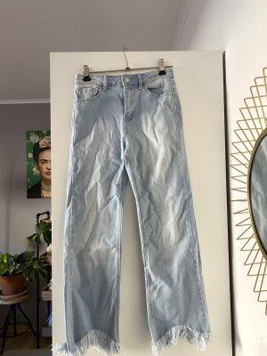 Stradivarius 3/4 Length Jeans slate-gray