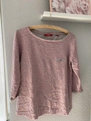 Dreiviertel Shirt mit rosa Streifen von S.Oliver