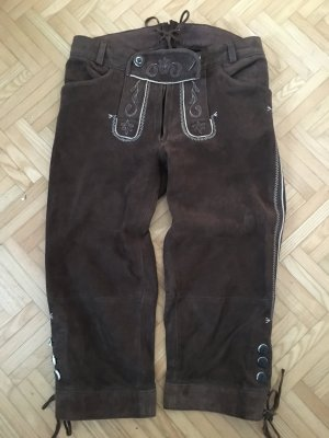 Spieht & Wensky Pantalon traditionnel en cuir brun
