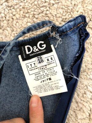 D&G Robe en jean bleu coton