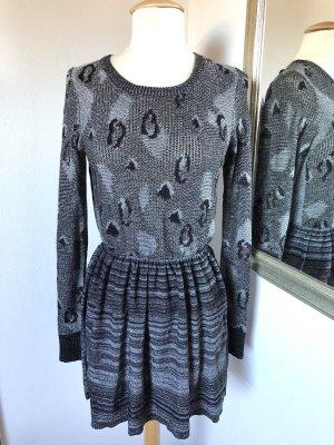 Dress Gallery Kleid Leo-Print Langarm