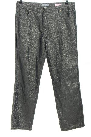 Dress In Pantalone cinque tasche grigio chiaro puntinato effetto bagnato