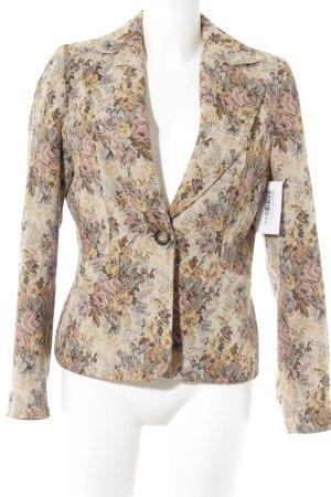 Dress In Kurz-Blazer Blumenmuster Casual-Look