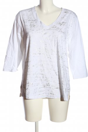 Dress In Longshirt weiß-hellgrau Allover-Druck Casual-Look