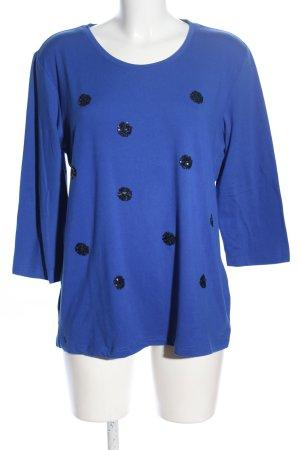 Dress In Longsleeve blau-schwarz Punktemuster Casual-Look