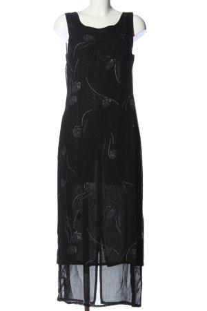 Dress In Maxikleid schwarz-hellgrau Casual-Look