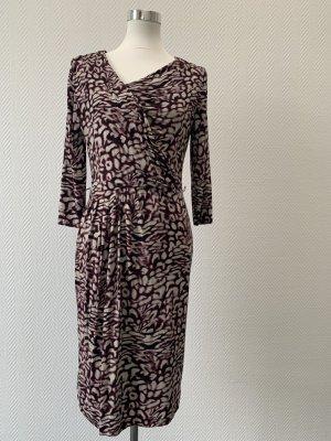 Dress Unlimited weinrot/beiges Kleid