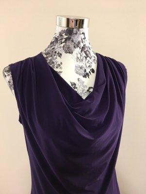 Dressbarn Cowl-Neck Top brown violet-dark violet