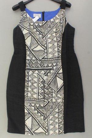 Dresses Unlimited Etuikleid Größe 44 geometrisches Muster Träger schwarz aus Leinen