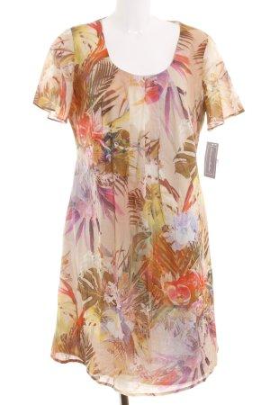 Dresses Unlimited Kurzarmkleid Blumenmuster Business-Look