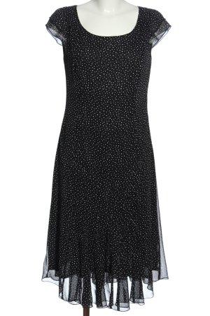Dresses Unlimited Midikleid schwarz-weiß Allover-Druck Elegant