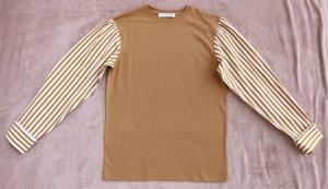 Dries van Noten Edle Stripped Bluse aus Baumwolle Bi- Material, H/ W 2019, Neu