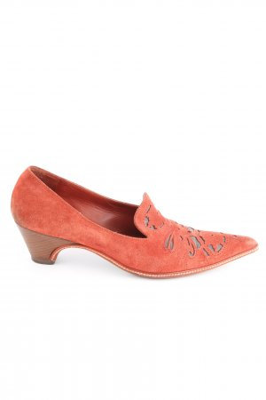 Dries van Noten Spitz-Pumps hellorange extravaganter Stil