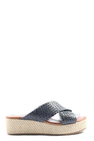 Drievholt Sandales à plateforme brun-noir imprimé allover style décontracté