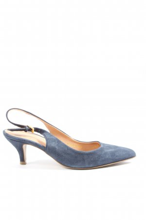 Drievholt Slingback-Pumps blau Business-Look