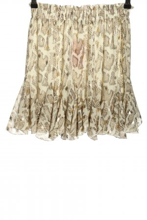 Drole de copine Godet Skirt natural white-bronze-colored animal pattern