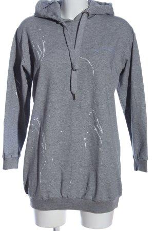 Drole de copine Kapuzensweatshirt hellgrau meliert Casual-Look