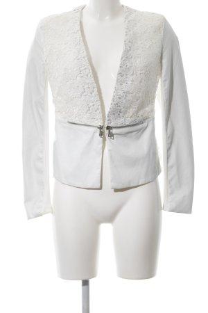Drole de copine Kurz-Blazer weiß extravaganter Stil