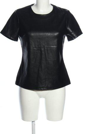 Drole de copine Kurzarm-Bluse schwarz Elegant