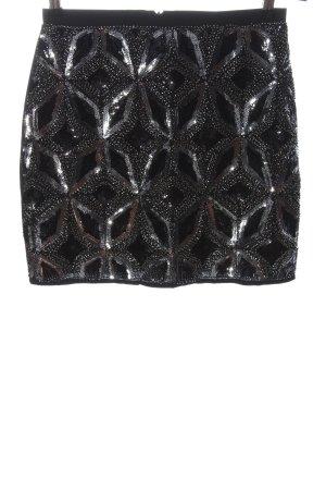 Drole de copine Minirock schwarz-silberfarben Casual-Look