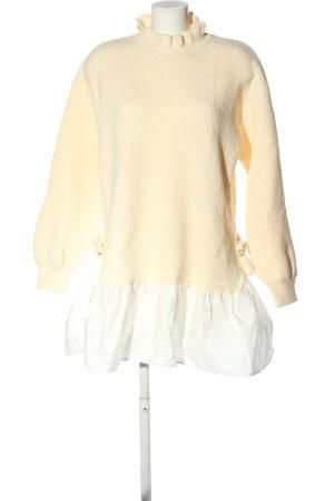 Drole de copine Abito maglione crema stile casual
