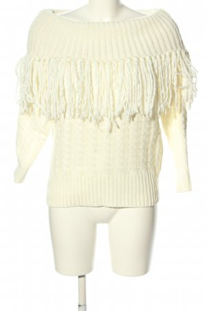 Drole de copine Cable Sweater natural white cable stitch casual look