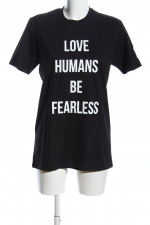 Drome Oversized Shirt schwarz Schriftzug gedruckt Casual-Look
